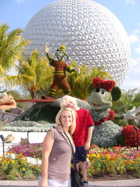 mother son dates at disney, epcot with kids